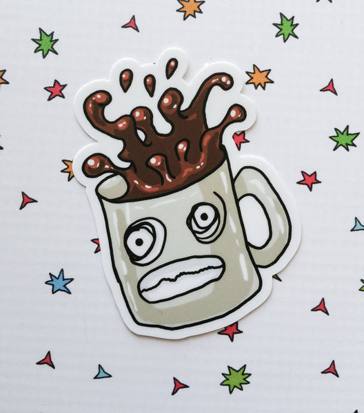 Overly Caffeinated Coffee Vinyl Sticker