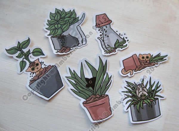 Potted Cats Sticker Flakes