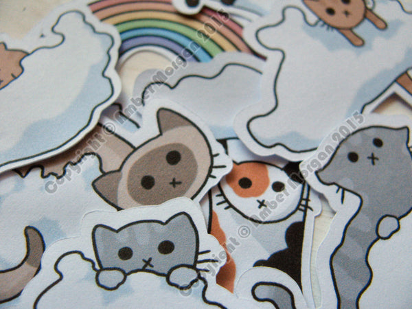 Cloud Cats Sticker Flakes