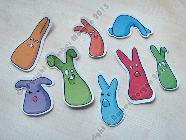 Cranky Rabbits Sticker Flakes