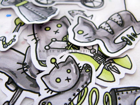 CatBots Sticker Flakes