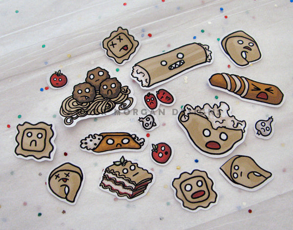 Pasta Party Sticker Flakes
