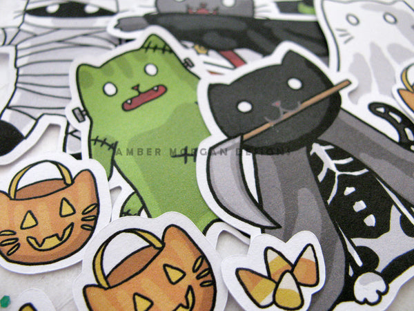 Costumed Cats Sticker Flakes