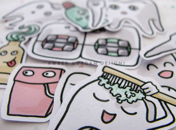 Cutie Toothie Sticker Flakes