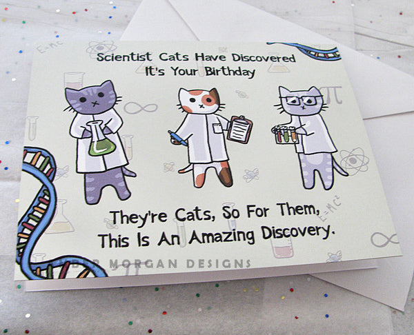 Science Cats Birthday Card