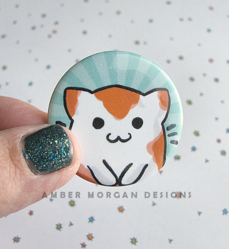 Kitty Koi Button