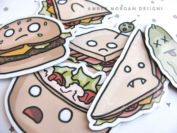 Looney Lunch Magnet Set