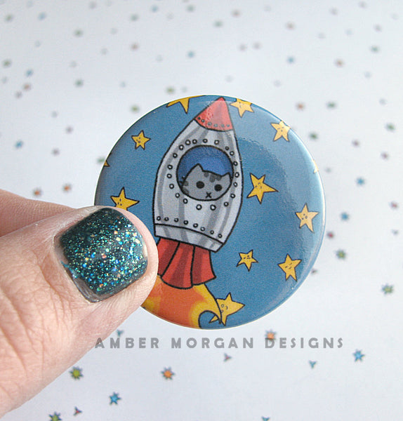 Space Cat Button