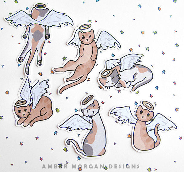 Angel Cats Sticker Flakes