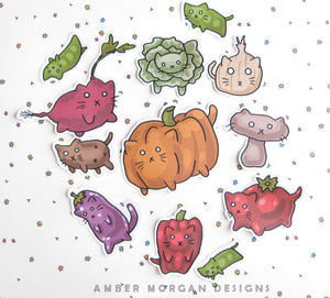Veggie Cats Sticker Flakes