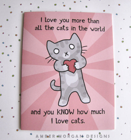 Valentine Kitty Greeting Card