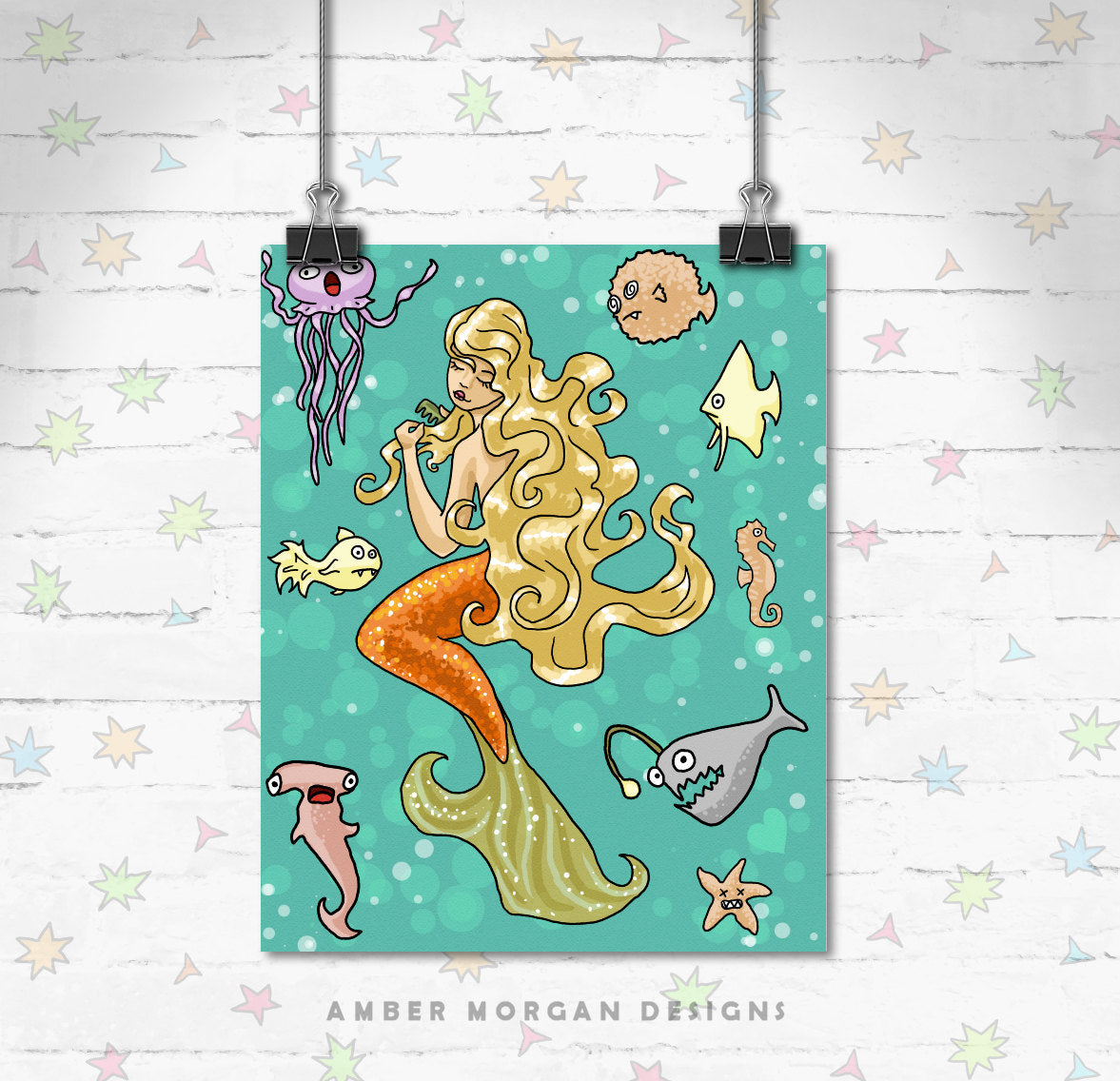 Mermaid 8x10 Print