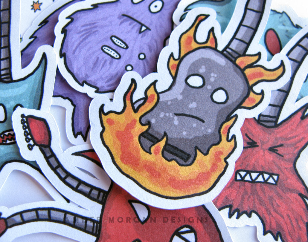 Monster Guitar Sticker Flakes