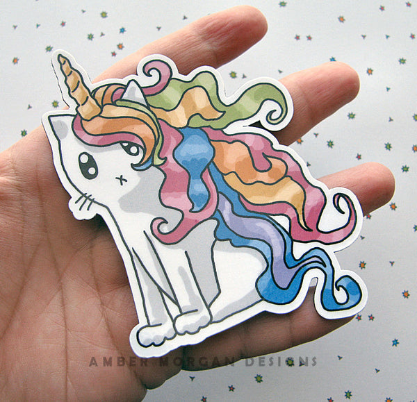 Rainbow Caticorn Magnet