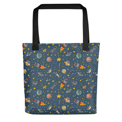 Space Cats Tote bag, cute kitties, shoulder bag, reusable bag, canvas tote, cute animals, outer space