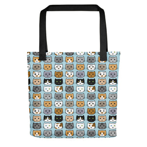 Cat Face Tote bag, cute kitties, kitty faces, cat breeds, adorable cats