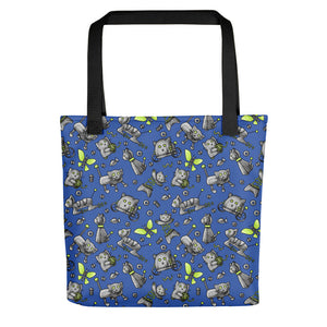 Robot Cats Tote bag, cute kitties, cute robots, shoulder bag, reusable bag, canvas tote