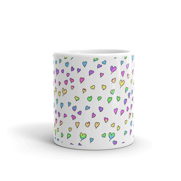 Tiny Rainbow Hearts Mug