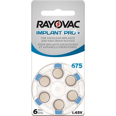 Rayovac Cochlear | Size 675 | 6 Pack