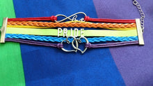 Pride Letter Waxed Rope and Leather Bracelet