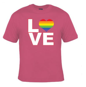 Love Rainbow Heart Unisex Shirt
