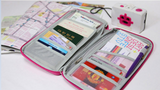 Travel Wallet - Document Organizer Zipper Credit Card Bag