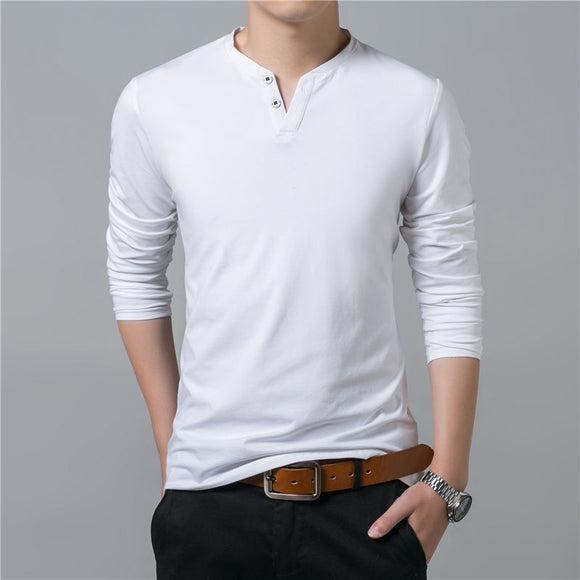 Long Sleeve Soft Cotton Slim Fit T-Shirt