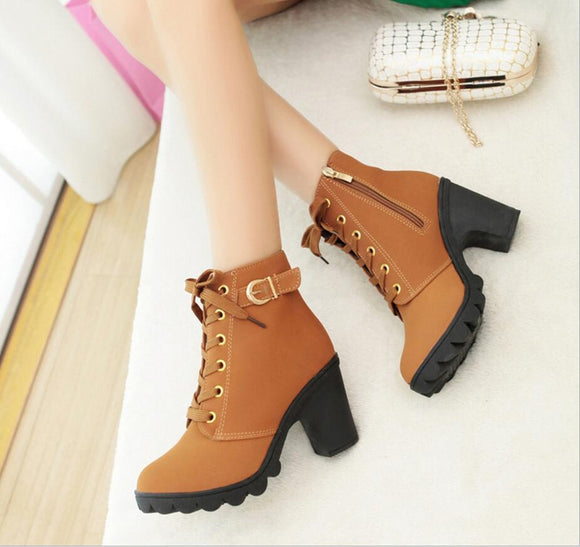 autumn and winter high-quality snow boots warm rough with women's boots