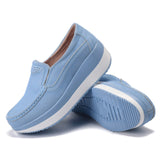 Women Flat Platform Loafers Ladies Elegant Suede Leather Moccasins Shoes Woman