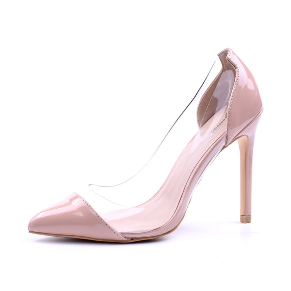 2018 Transparent 11cm High Heels  Pointed Toe Slip-on Wedding Party Shoes