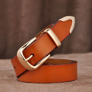Women genuine leather fashion all-match belt women's cowhide casual pants belt
