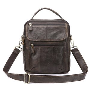 Genuine Leather Mens Bags Male Crossbody Bags Small Flap Casual Messenger Bag Men's Shoulder