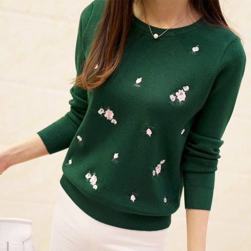 Embroidery Knitted Sweater