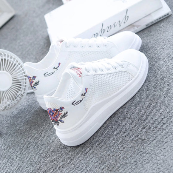 Women Casual Shoes Summer 2018 Spring Women Shoes Fashion Embroidered