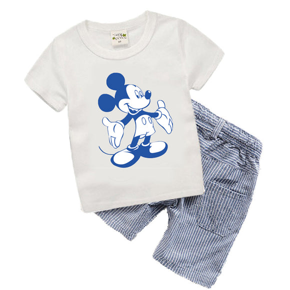 Kids clothes Summer Baby Boy Clothes Mickey toddler Boys clothing Sets