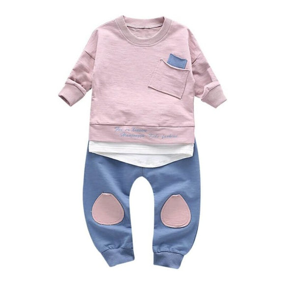 2017 Children Clothing Set Baby's Sets Children's Kids Autumn Boy Outfit Sports Suit Set 1-4T