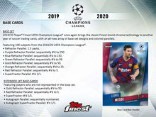 2019/20 Topps Finest UEFA Champions League Soccer Hobby 8 Box Case Break #1 - Pick Your Teams