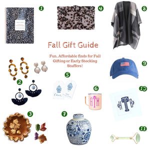 The St Armands Designs Fall Gift Guide: Tortoise shell Clutch + Statement Earrings, Ginger Jars, Cozy Ponchos + More