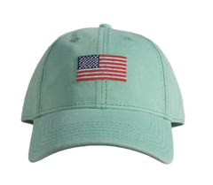 Turquoise American Flag Hat