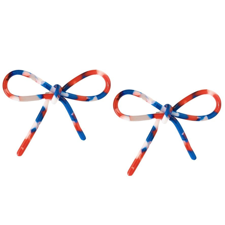 Red, White and Blue Bows