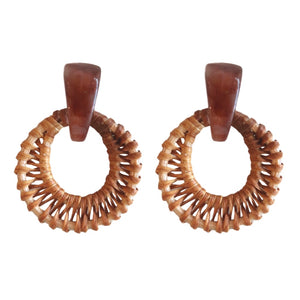 Bali Button Studs - Brown
