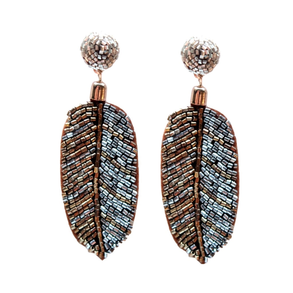 Metallic Beaded Palm Drops