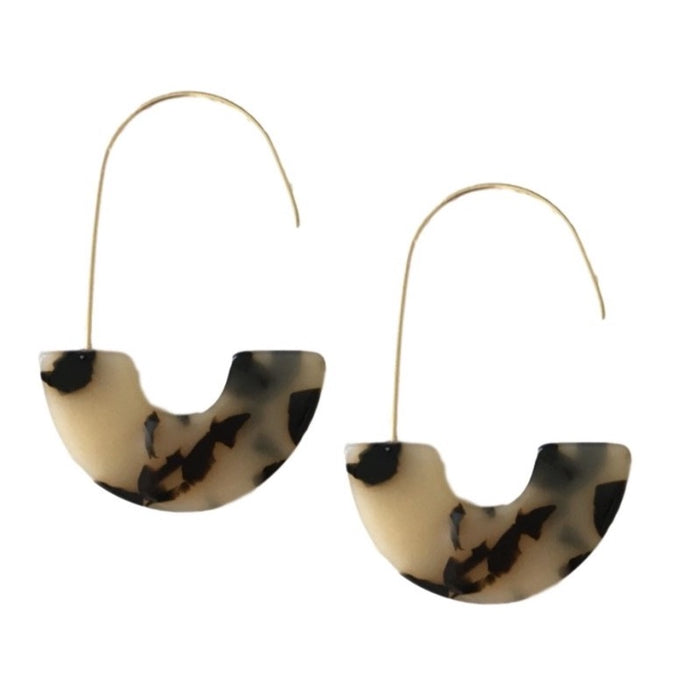 Blonde Spotty Tortoise Shell Thread Hoops