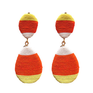 Candy Corn Halloween Statement Earrings