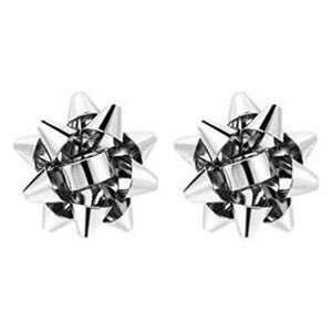 Christmas Present Bows - Silver