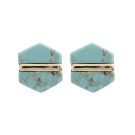 Turquoise Marbled Studs