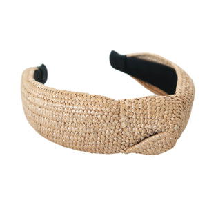 Natural Raffia Knot Headband