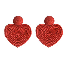 St Armands Red Heart Valentine's Day Earrings