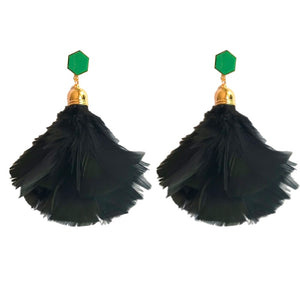 Glam Feathered Tassels