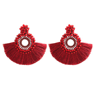 Holiday Fan Tassels - Red